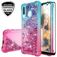 For Samsung Galaxy A10e A20 A50 A30 Case Cover Glitter Liquid Gradient Bling TPU