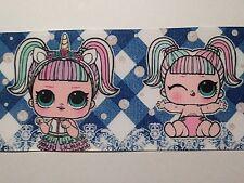 """""""venta"""" Muñeca/Unicornio cinta ancha cinta del grosgrain-arcos del pelo/Pasteles. 75 mm"""