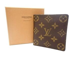 Authentic LOUIS VUITTON Monogram Wallet Bi-fold M61675 Marco Men's Vintage