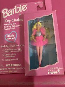 FZB VINTAGE Basic Fun #720-0 Keychain Key Chain Twirling Ballerina Barbie NEW