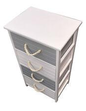 New 4Drawer Wood Storage Bedside Table/Cabinet Unit Organiser Bathroom Bedroom