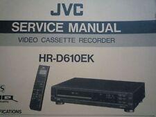 JVC HR-D610EK VHS Video Cassette Recorder Deck Service manual wiring diagram