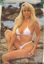 Huge Busty Blond Bikini Model Launa Morosan Yokohama Poster 1993 Calendar 24X36