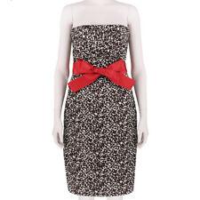 Monique Lhuillier Ceinture à La Taille Imprimé Léopard soie robe bustier US6 UK10