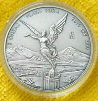 2019 2 oz Silver Libertad ANTIQUE !! Coin in Capsule Mintage of 1,000 ONLY !!