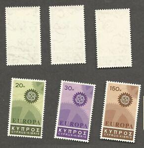 Cyprus Europa issue - Scott# 297-299 - Mint, Hinged   stk#AL