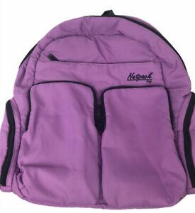 "Netpack Bag Backpack Large Purple 17"" X 17"" Excellent Condition 7 Pockets"