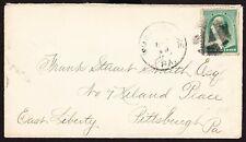 "Cover, 1880s, Wilkes Barre, PA, ""A"" Fancy Cancel"