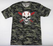 Camouflage Men's Short Sleeve Graphic Tee-Shirt Baseball Theme, AWESOME, Medium