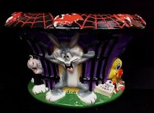 Warner Bros. Studio Store Looney Tunes Trick Or Treat Ceramic Bowl Halloween '99