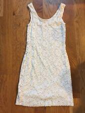 Leyendecker Bodycon Lace Tank Dress White Xs