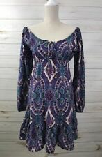 Earthbound Trading Company Women's Dress Small Boho Bohemian Hippie Multi-color