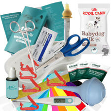 More details for whelping kit aspirator cord clamps iodine royal canin puppy milk syringe nurser