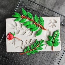 Leaf Rose Flower Silicone Mold Fondant Chocolate Mould Cake Decorating T ks