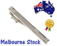 Men Silver Tie Clip Pin Stainless Steel Fashion Clasp Bar Office Wedding gift