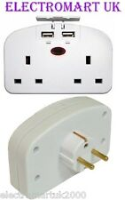 Status Stetawusb1pk3 2-way European Travel Adaptor With 2 USB Charging Ports -