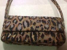 Vintage Suzi Smith Tan/Brown/Cream Tapestry Animal Print Handbag / Shoulder bag