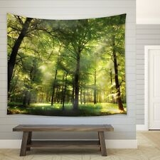 Forest Filled with Trees and with Glimpses of the Sun - Fabric Tapestry - 51x60