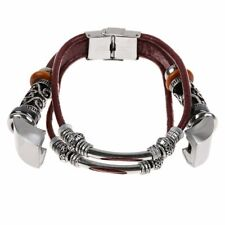 Leather Cords Small Braided Wristband Band Bracelet Strap for Fitbit Alta & Hr