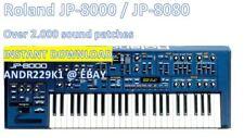 Roland jp-8000 jp-8080 - 2300+ patchs (. syx. Pat. Mid) Instant téléchargement