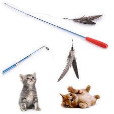 Pet Teaser Wand Cat Stick Cat Plush Bird Feather Cat Interactive Toys Gift