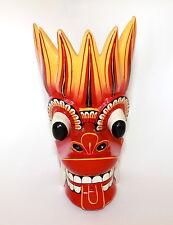 Asian Sri Lankan Dragon Wooden Carved Mask Sculpture