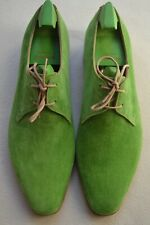 "John Lobb Paul Smith ""Willoughby"" Spring Green Suede Shoes UK 9.5 US 10.5 New"