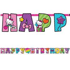 HELLO KITTY Rainbow JUMBO LETTER BANNER KIT ~ Birthday Party Supplies Decoration