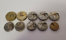 Lot of Vintage Pocket Watch Movement Parts Repair Project