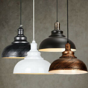 2x Retro Industrial Round Lamp Shade Cover Iron Lampshade for Corridor Cafe Bar