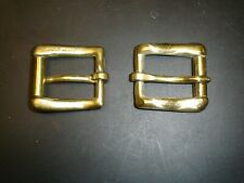 """2 - 3/4"""" Solid Polished Brass Roller Buckle Bags Belts Straps Leather"""
