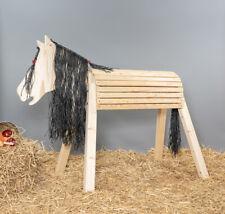 Holzpferd, Voltigierpferd, Sitzhöhe ca.115 cm, mit Flechtmähne, unbehandelt