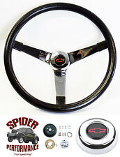 """1974-1994 Chevy pickup steering wheel Red Bowtie 14 3/4"""" Vintage Chrome Grant"""