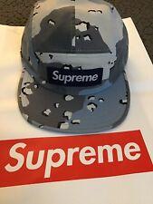 SS20 SUPREME MILITARY CAMP CAP (BLUE CAMO) TUPAC HOLOGRAM SHOP BLING TEE PONCHO