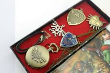 The Legend of Zelda anime pocket watch+pin+necklaces pendant one box new