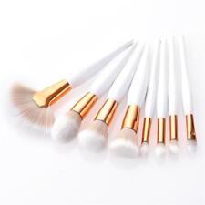 8 un./Set Premium Maquillaje Pincel TAMAÑO COMPLETO Kit de cosméticos Kabuki Sombra de Ojos en Polvo C1