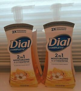 Lot of 2 Dial Complete 2 in 1 Foaming Hand Wash Manuka Honey 7.5 oz.