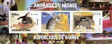 STAMP / TIMBRE GUINEE BLOC ** NEUF NON DENTELE 1427/1429 FAUNE LAPIN