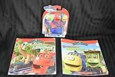 Chuggington Brewster Diecast Train and 2 Chuggington Paperback Books, & DVD