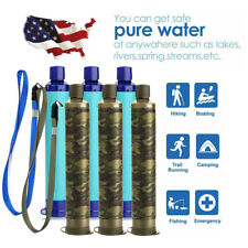 6 Pack 4-Stage Portable Water Filter Straw Purifier Emergency Survival Tools