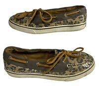 SPERRY Top Siders Leopard Print Women's Shoes Size 5.5 M YG39819