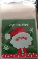 15 Self Adhesive Christmas Cellophane Party Favor Gift Bags 7cm x 7cm
