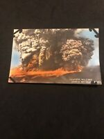 1920s/30s Postcard Hand Painted Kilauer Volcano Hawaii Postcard Tinted AMAZING
