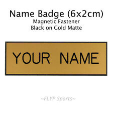 Name Badge Tag Plate Magnetic Gold Matte Personalised Engraved Employee Custo...