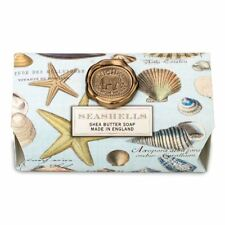 Michel Design Works Large 8.7 oz Artisanal Bar Bath Soap Seashells Ocean Breeze