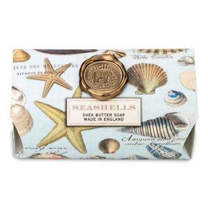 Michel Design Works Large 8.7 oz Artisanal Bar Bath Soap Seashells Ocean Breeze