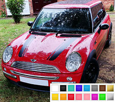 MINI COOPER R50 R52 R53 BONNET HOOD STRIPES VINYL DECALS STICKERS RACING SPORT