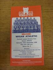 23/09/1978 York City v Wigan Athletic [1st League Season] . This item is in very