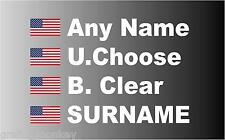 American Rally Car Name decal sticker graphics American flag, Stars & Stripes