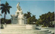 Postcard Cuba Havana Habana Fuente de la India Park & Fountain 1950s